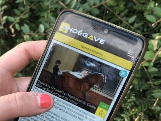 Article de presse appli mobile - Andégave Communication