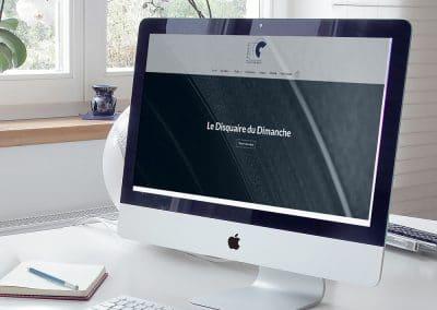 Site web Le Disquaire du Dimanche - Andégave Communication