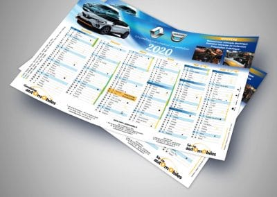 Édition Calendrier Sèvre Automobile - Andégave Communication