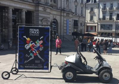 Street Marketing Agence globale scoot-pub Festival Anjou Angers - Andégave Communication