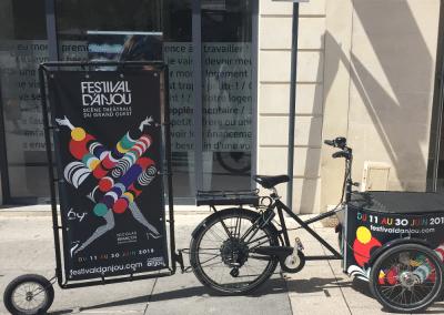 Street Marketing triporteur Festival Anjou Angers - Andégave Communication