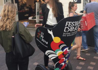 Street Marketing Segway Festival d'Anjou - Andégave Communication