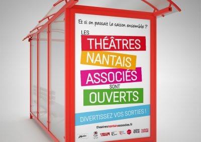 Affichage Publicitaire Abribus Théâtres Nantais Associés - Andégave Communication